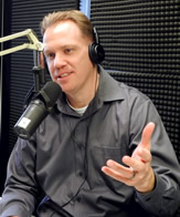 Joe Hollcraft in the Radio Studio